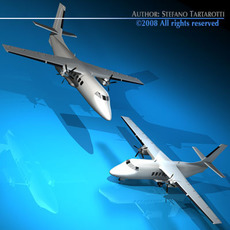 Turboprop twin engine 3D Model