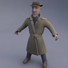 Detective Henry 3D Model