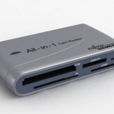 FSC All-in-One Card Reader 3D Model