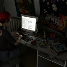 Hacker Room incl. Character 3D Model