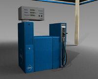 Hydrogen Gas Station 3D Model