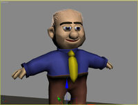 Toon Character 3D Model