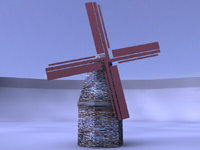 Free Windmill 3D Model