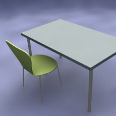 Table and Chair 3D Model
