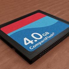 CF Card 3D Model