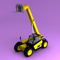 Caterpillar TH330 telescopic handlers 3D Model