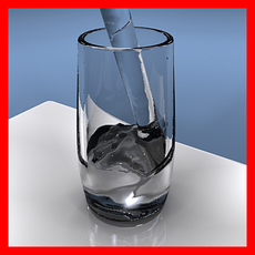 water pouring into a glass 3D Model