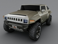 Hummer HX low poly 3D Model