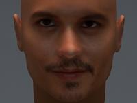 Johnny Depp 3D Model
