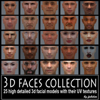 3D faces collection vol. 1 3D Model