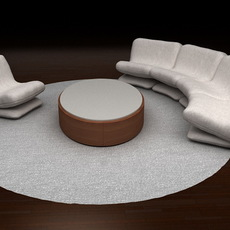 Living room set 3D Model