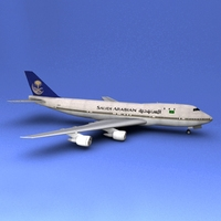 Boeing 747 Saudi Arabian 3D Model