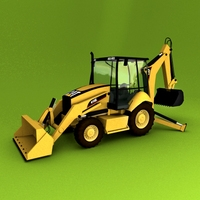 Backhoe Loader 416E 3D Model