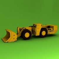 Underground Mining Loader R1700G 3D Model