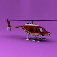 Bell 206 USFS 3D Model