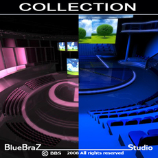 set tv collection 3D Model