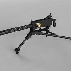 Browning M1919A4 3D Model
