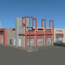 Commercial Structure 3D Model