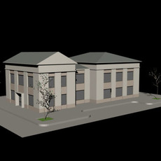 2 Storey Office Building 3D Model