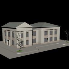 2 Storey Office Building 3D Model