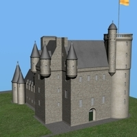 Castle Fraser 3D Model