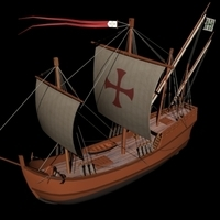 Caravel Nina 3D Model