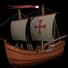 Caravel Pinta 3D Model