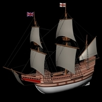 Mayflower 3D Model