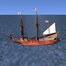 Golden Hind 3D Model