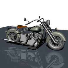Old Motorcycle 3D Model