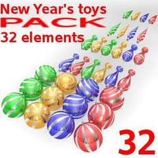 New Year's toys 3D Model