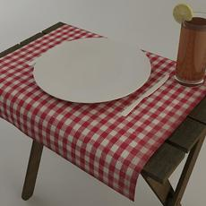 Outdoor Dining Serving Tray 3D Model