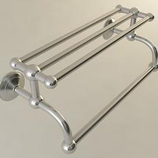 Metal Bathroom Towel Rack 3D Model