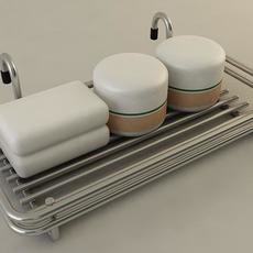 Bathroom Accessory Rack 3D Model