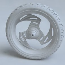 Custom Chopper Wheel 3D Model