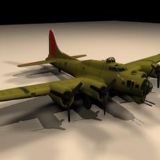 B17 Airplane 3D Model
