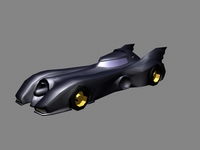 Free Batmobile Gotham Dark Knight Car 3D Model