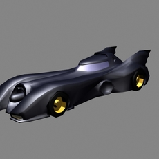 Batmobile Gotham Dark Knight Car 3D Model