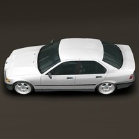 BMW Serie 3 E36 *Rigged* 3D Model