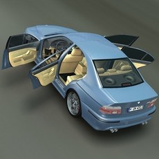 BMW M5 E39 *Rigged* 3D Model