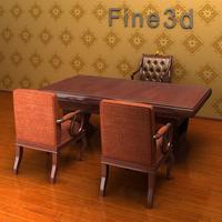 08-023-Desk-1608 3D Model