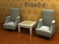 08-026-Sofa combination-0805 3D Model
