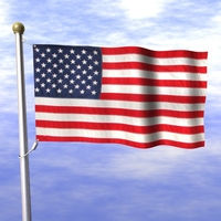 American Flag.zip 3D Model
