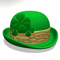 St. Patricks Day Hat 2.zip 3D Model