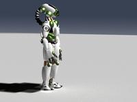 robot with an eye 3D Model