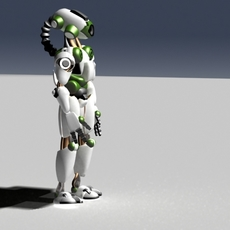 robot with an eye 3D Model
