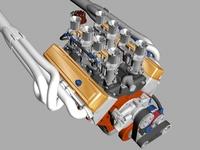 Chevrolet Weber V8 Engine 3D Model
