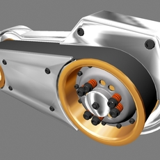 Open Primary Drive for Motorcycle Engine 3D Model