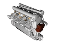 Offenhauser Engine 3D Model