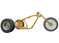 Motorcycle Trike Frame 3D Model